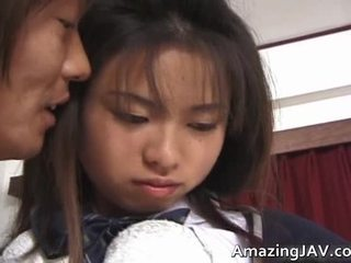 Nasty Asian Coed Has Fingered