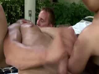 hetro dude spitroasted by homos