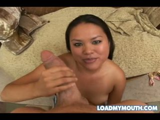Bawdy Ashley Marie Receives A CreAmy Ooze Of Pecker Sauce On Her Mouth And Loves It