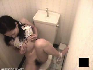 Toilet Room Japanese Girl Masturbating