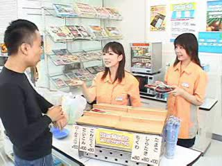 Funny little Asian movie in public store Video