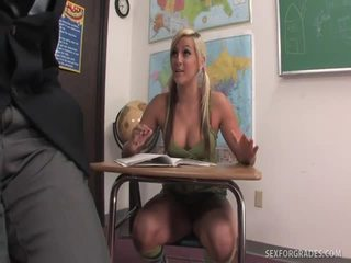 Whore Blows Her TeaCher For More Good Grades