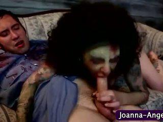 Pornstar In Zombie Makeup Sucks
