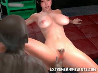 3D Zombie Cums Inside Hot Babe!