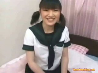 Asian Schoolgirl Masturbating