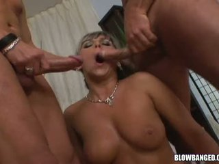 Women Lucky And Christina Lee Getting Swarmed By Cocks Entering Their Mouth