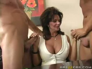 Breasty Milf Deauxma Engulfing On 2 Big Hard Boner