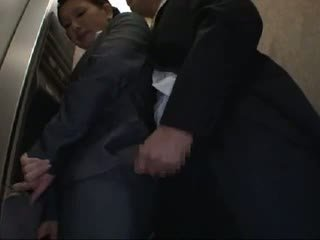 Officelady Groped And Fucked In Elevator
