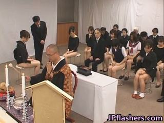 Asian Girls Go To Church Half Naked Inside Public