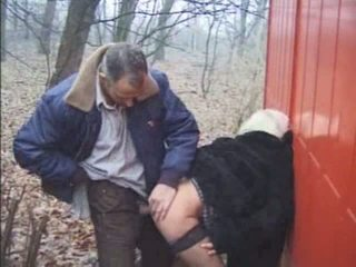 Outdoor Granny Sex Video