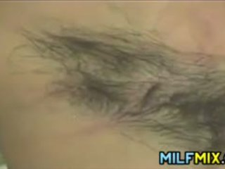 Very Hairy MILF Masturbating