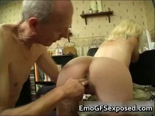 Aged Papy Fucking Young Tattooed Wife