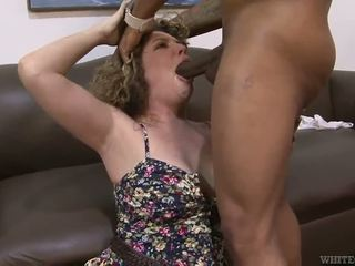 Chunky Black Haired Kiki Daire Has Her Fuzz Smashed By A Chocolate Bloke