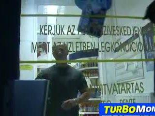 Hungarian milf Aniko sex in a grocery