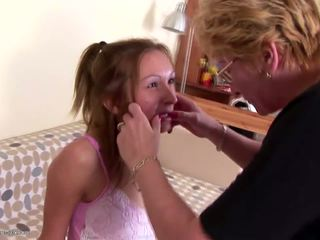 Extreme Lesbian Pissing with Mature Mothers: Free Porn 50