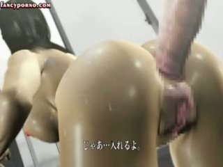 Brunette Animated Slut Gets Asshole