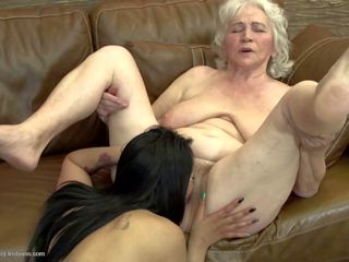 Grey Haired Granny Fucked by Teen Girl, Porn 07