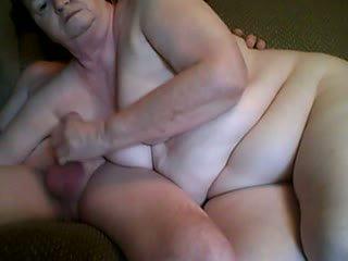 Grandpa and grandma having sex in front cam