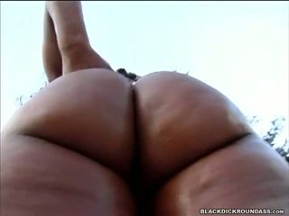 Big Bootied Beauty Gets Her Ass Cheeks Spread