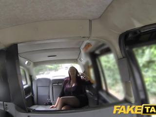 Fake Taxi Secretary Looking Lady with Huge Tits and Wet