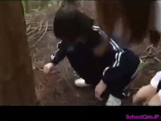 Busty Schoolgirl Giving Blowjob For Guy In The Forest