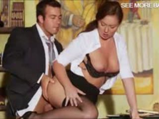 Gorgeous Secretary Maddy Fucks With Her Boss On The Desk