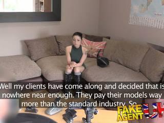 FakeAgentUK Agent gives petite web cam student a spunk surprise in casting