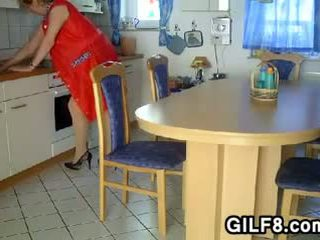 Granny Being Fisted In The Kitchen