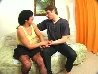 Russian mature and her young lover 1