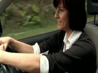 Horny british mom emergency stopped car to masturbate and satisfy her