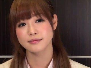 Office Babe Ickika Kuroki Has Fingered Through Her Torn Pantyhose