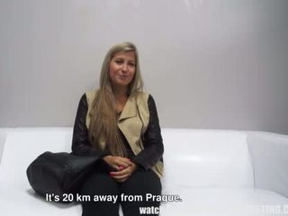 Czech blonde fucked on casting