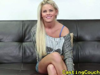 Real casting couch x amateur doggystyled