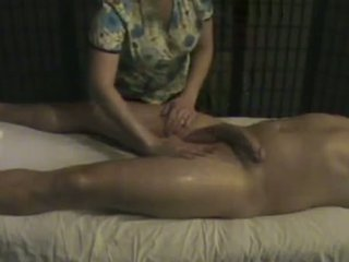 Massage Institute Masseuse Takes Care Of A Big Whi