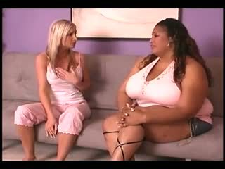 Interracial Catfight Big Ebony vs Skinny Ivory: Porn 71