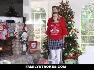 Familystrokes - Fucking My Step-sis During Holiday Christmas Pics Video