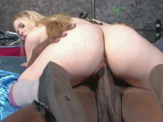 Teen Blonde in High Socks Tastes a Long Black Cock: Porn 1a