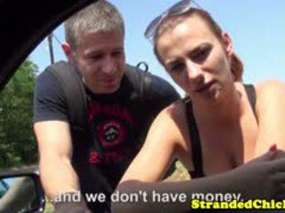 Hitchhiking Hungarian In Public Gets Cumonass