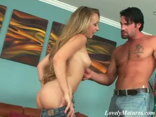 Long Haired Tattooed Mature Bitch Jaime Riding Anally A Monster Phallus On The Couch1