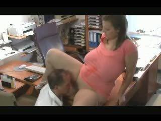 Hot Bbw Fucked In Office..