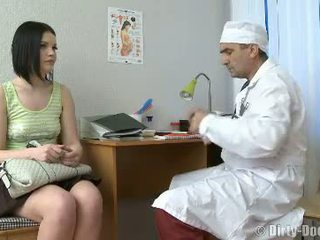 Gynecologist Spreads Teens Legs In Chair