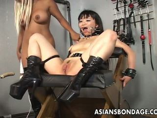 Beautiful Blonde Bitch Dominates the Slut with a Fuck