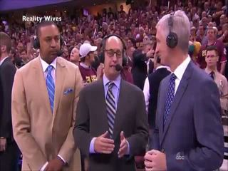 Lebron James accidentally shows cock on TV