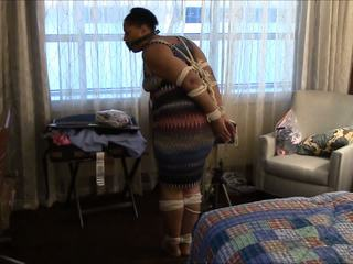 MILF Hops Around Room with Toes Tied, HD Porn 95