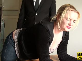British BDSM Slut Spanked and Dominated, Porn 2d