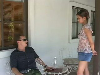 Asian cutie is fucked by a white guy