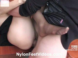 Judith Christopher Furious Nylon Footsex