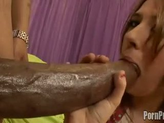 Red head Victoria Raven fills her warm mouth with an awesome cock til she chokes