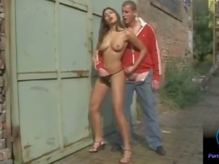 Sexy Naughty Zafira Jerking a Random Stranger: Free Porn 8e