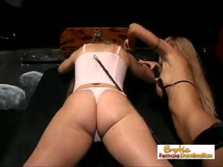 Perky Blonde Slave is Perfect for Mistress Morgan Ray